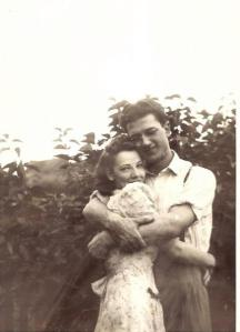 How gorgeous was my grandmother?  So young and in love...