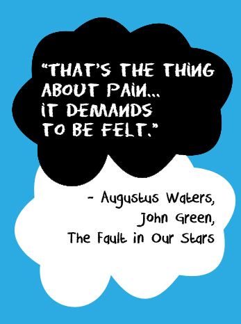 http://epicjohngreenquotes.tumblr.com/post/30397218461/thats-the-thing-about-pain-it-demands-to-be
