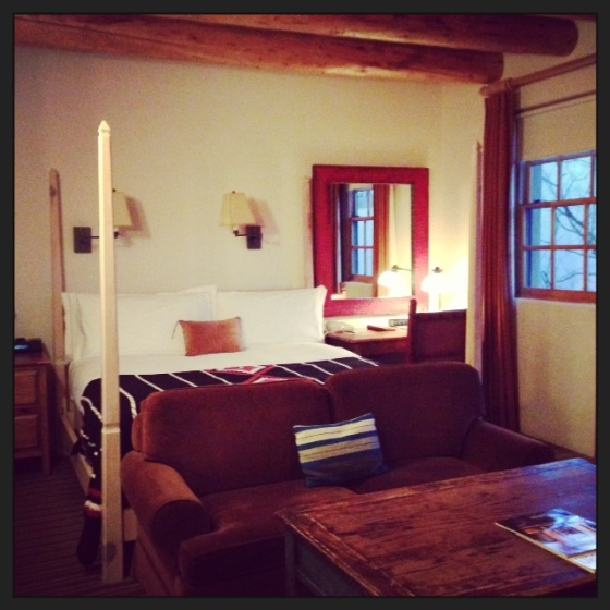 My lovely room at the Rosewood Inn of the Anasazi
