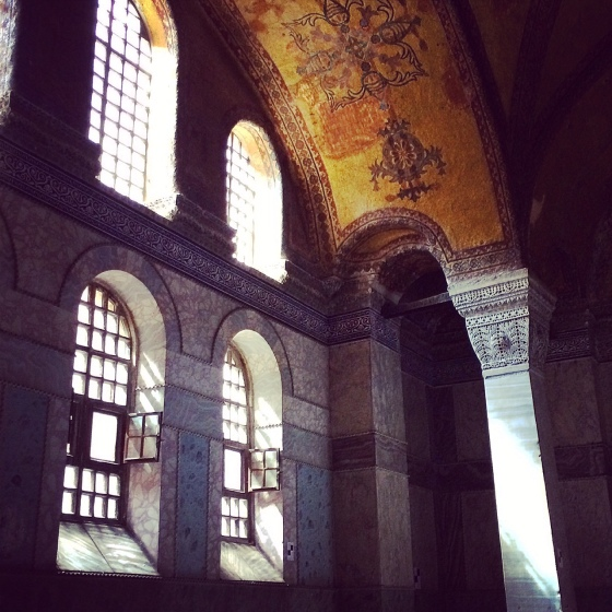 Sunlight entering the Hagia Sofia in Istanbul